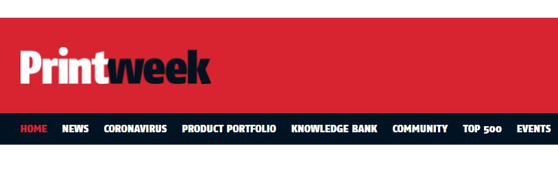 printweek website header